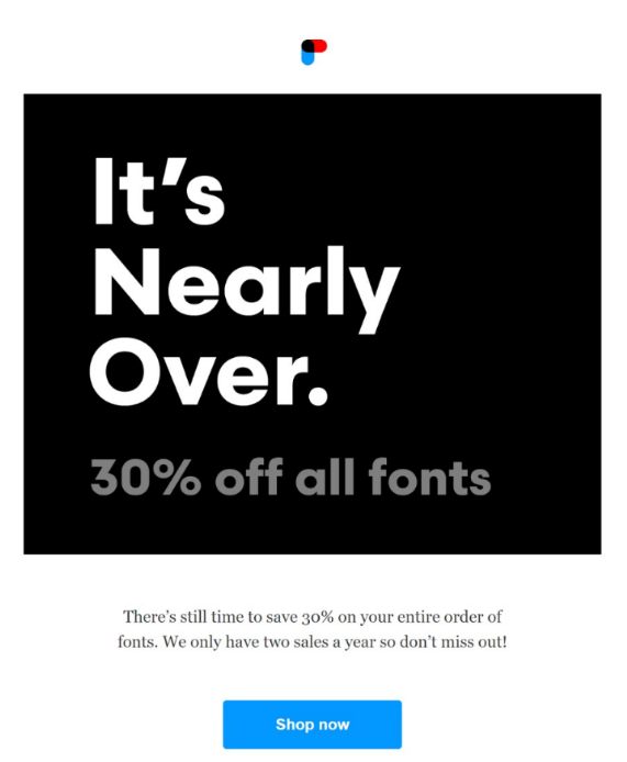 inspirational ecommerce email from Process Type Foundry